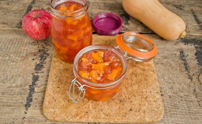 Тыквенное варенье с яблоками и лимоном