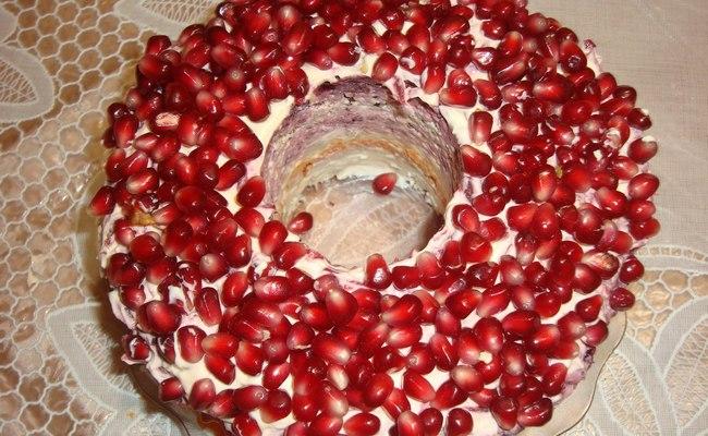 Овощной салат Королевский с гранатом