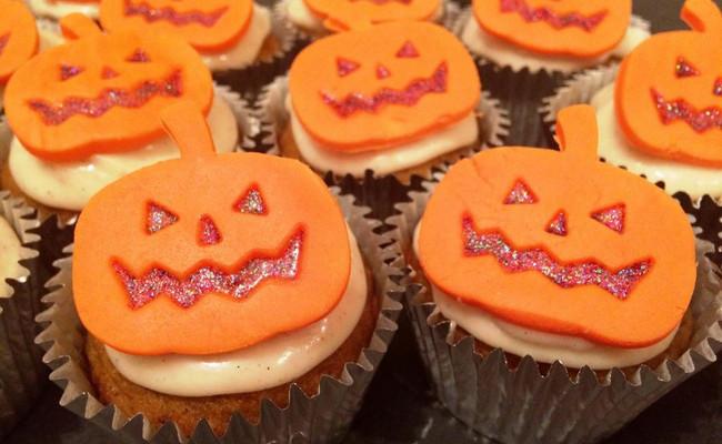 Капкейки из тыквы – отличная идея на Хэллоуин